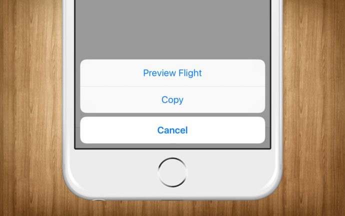 iphone preview flight