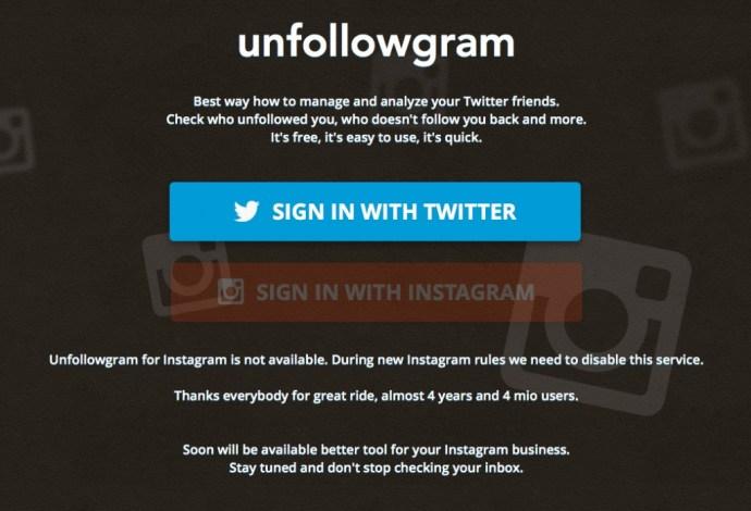 Unfollowgram No Instagram