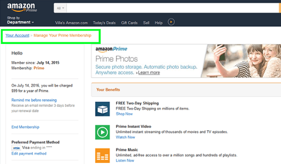 How to cancel Amazon Prime-3