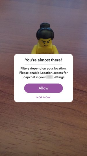 Snapchat allow location
