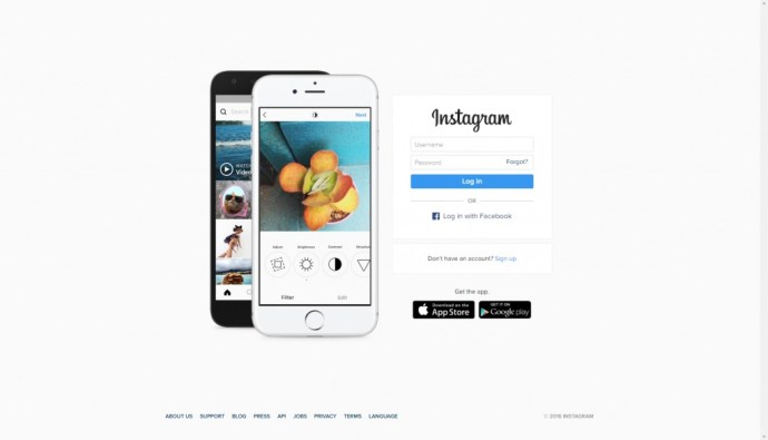Сайт Instagram