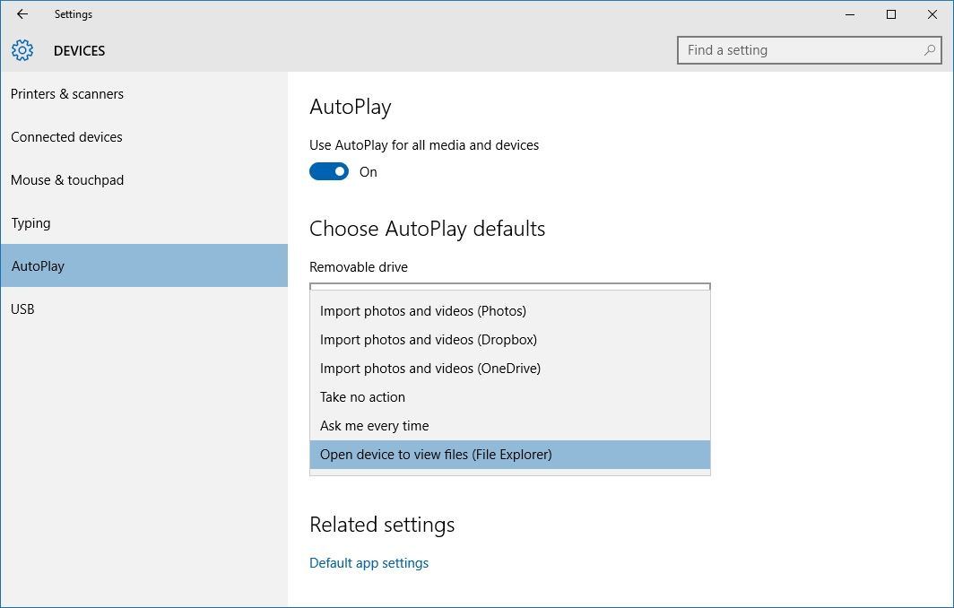 How to Manage and Disable AutoPlay in Windows 10