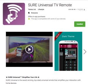 SURE universal remote