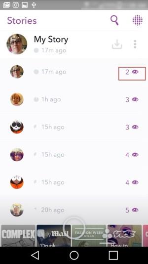 Snapchat purple eye