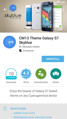 CM13 Galaxy s7 skyblue
