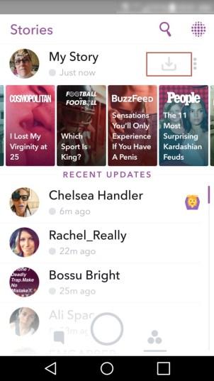 Save Snapchat Story