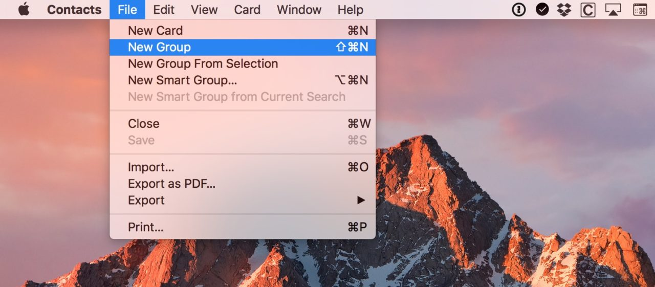 How to Share Multiple Contacts at Once on the Mac