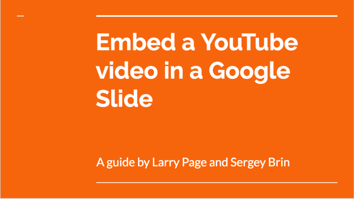 How to Embed a YouTube Video in a Google Slide