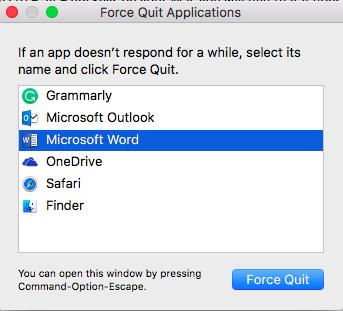 Apple Force Quit