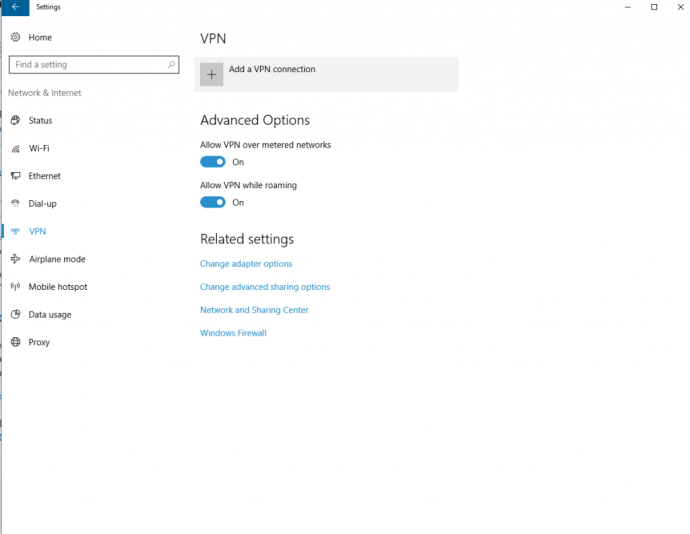 Agregar VPN a Windows 10