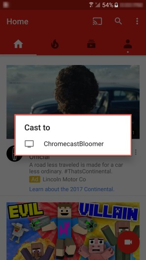 Android Chromecasting