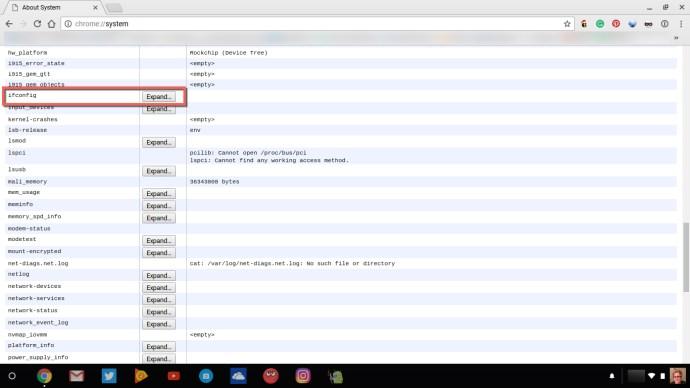 ifconfig Chromebook