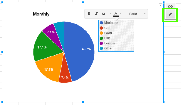 how to use pie charts in google sheets