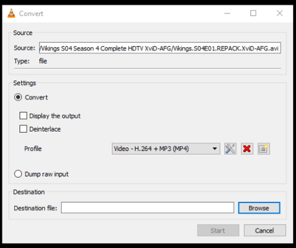 How to batch convert media files in VLC-3