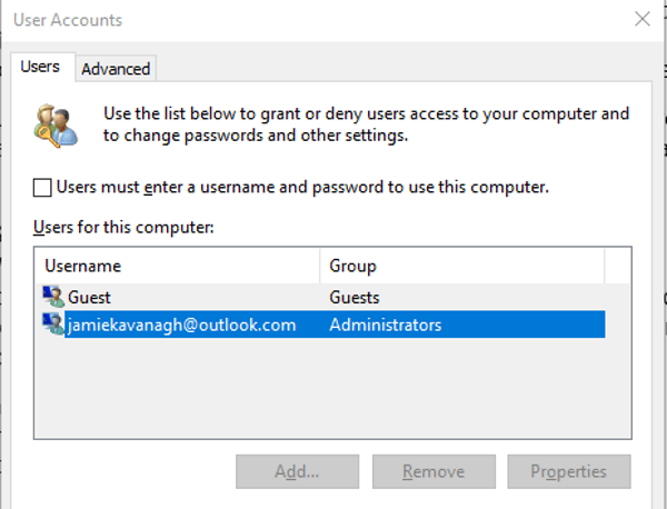How to remove your password in Windows 10-2