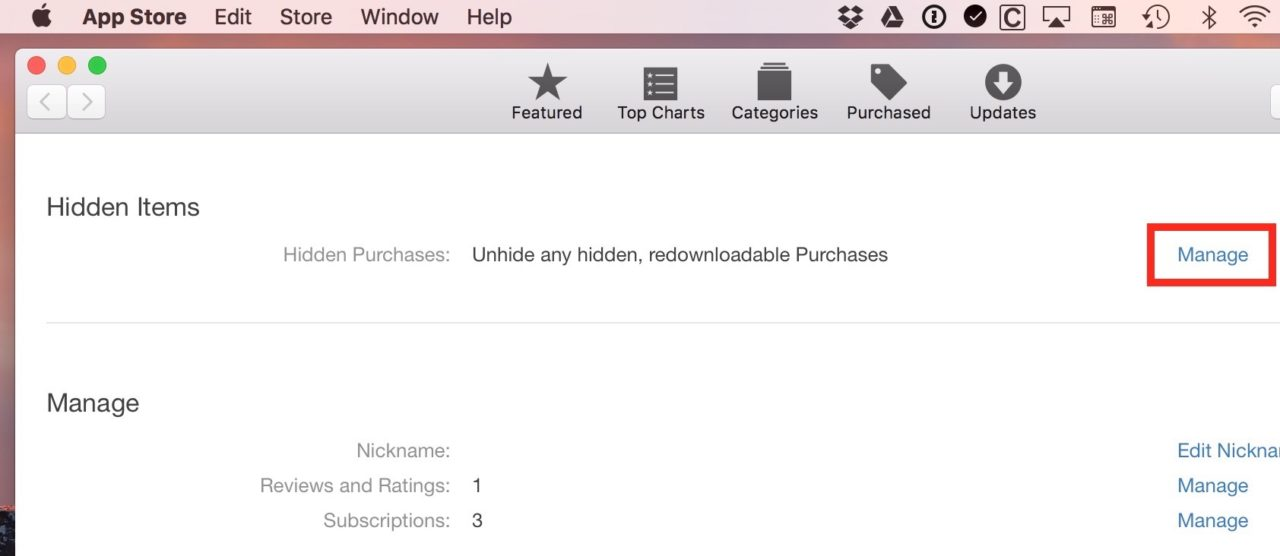How to Manage and Hide Mac App Store Purchases