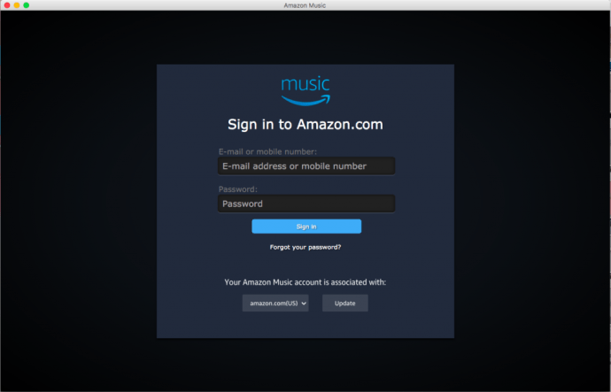 Amazon Music login