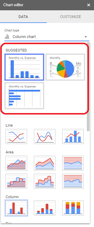 how to create a legend in google sheets