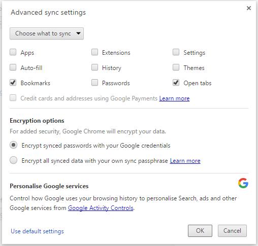 google chrome bookmarks2