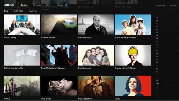 HBO GO choices