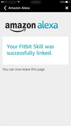 Fitbit Skill linked to Alexa