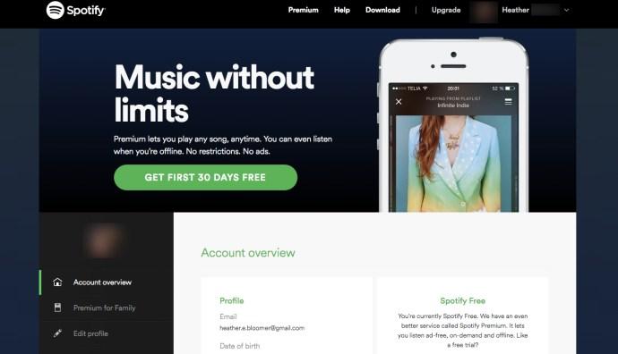 Spotify 30 day free