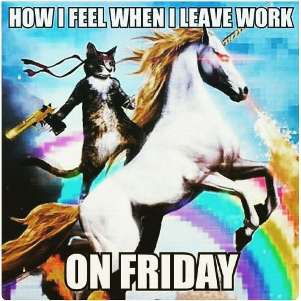 Что я чувствую, когда ухожу с работы в пятницу