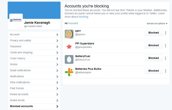 How to block or unblock someone on Twitter3