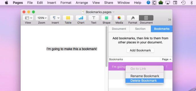 Delete Bookmark