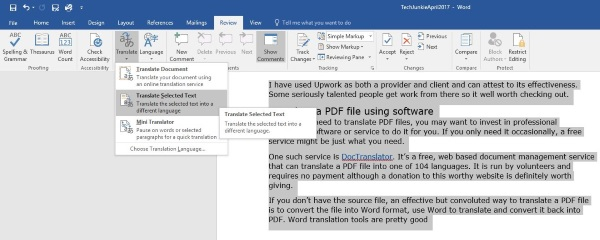 How to translate a PDF file3