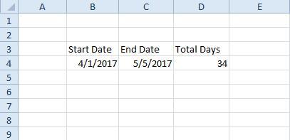 excel dates