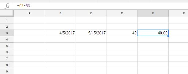 How To Calculate Days Between Dates in Google Sheets