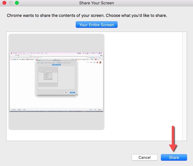 Share Desktop Chromecast
