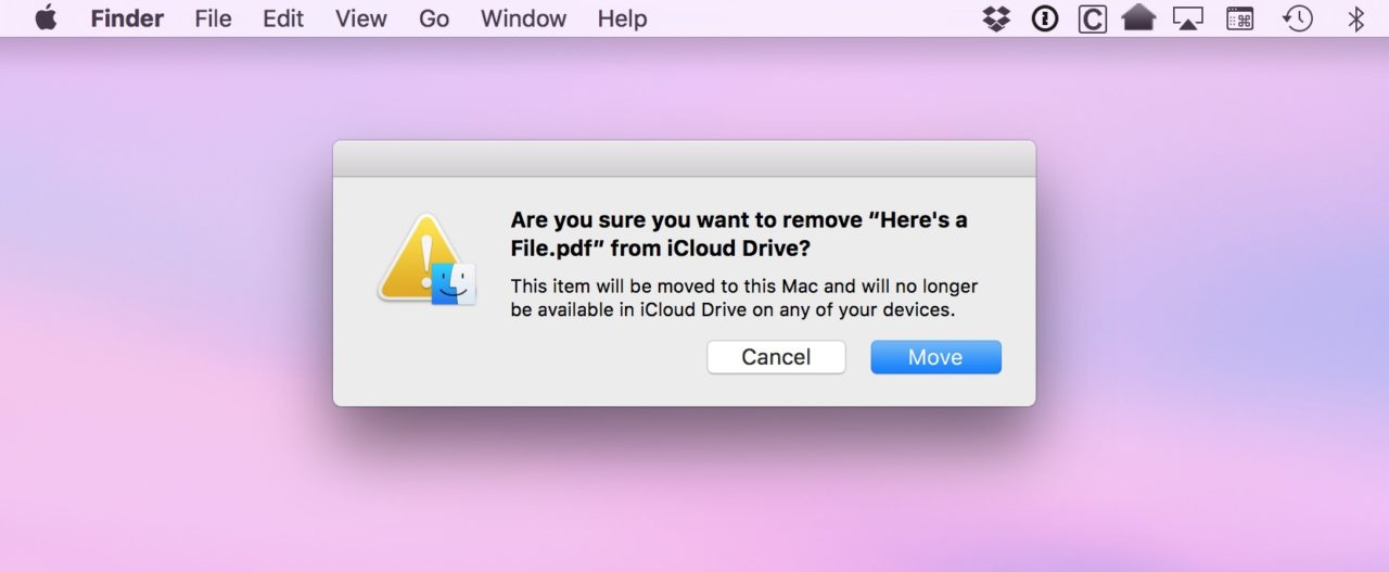 How to Turn Off iCloud Drive Warnings When Moving Files on Your Mac