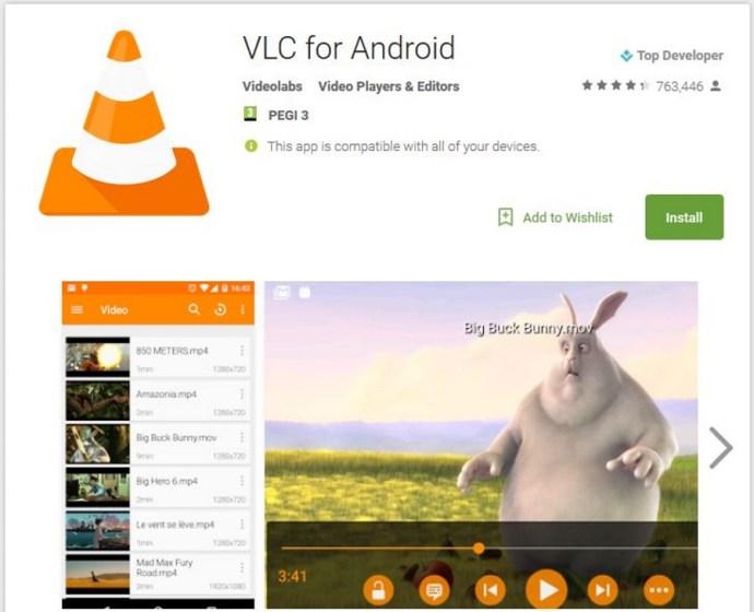 Fem utmärkta appar för filmspelare för Android1