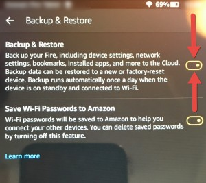 Kindle Fire Backup & restore