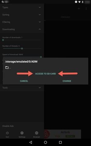 Access to SD Card ADM