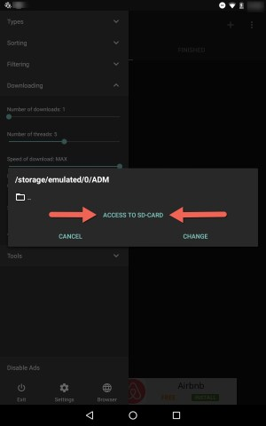 Access to SD Card ADM