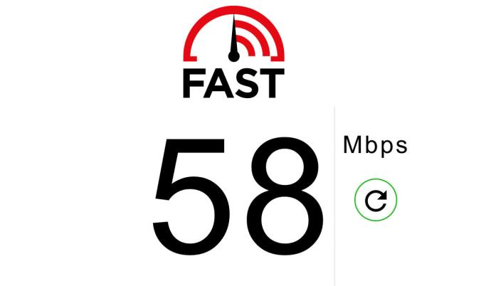 Check your internet speed with Fast.com