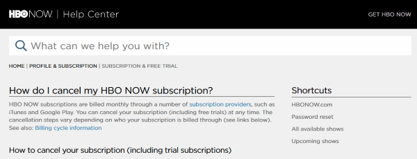 How To Cancel your HBO Now Subscription