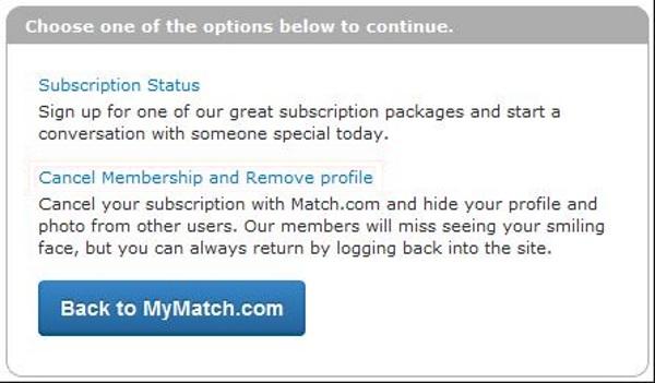How To Cancel Match Com Profile