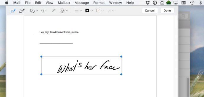 mac mail signature