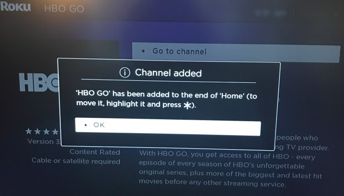HBO Go channel