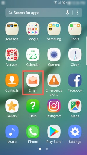 Email in apps