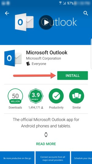 Microsoft Outlook Install