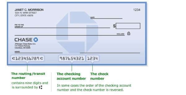 how to get routing number chase