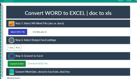 How To Convert Word to Excel