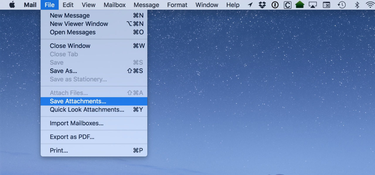 Mac Mail: Save Multiple Email Attachments at Once