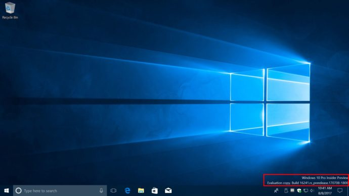 windows 10 watermark