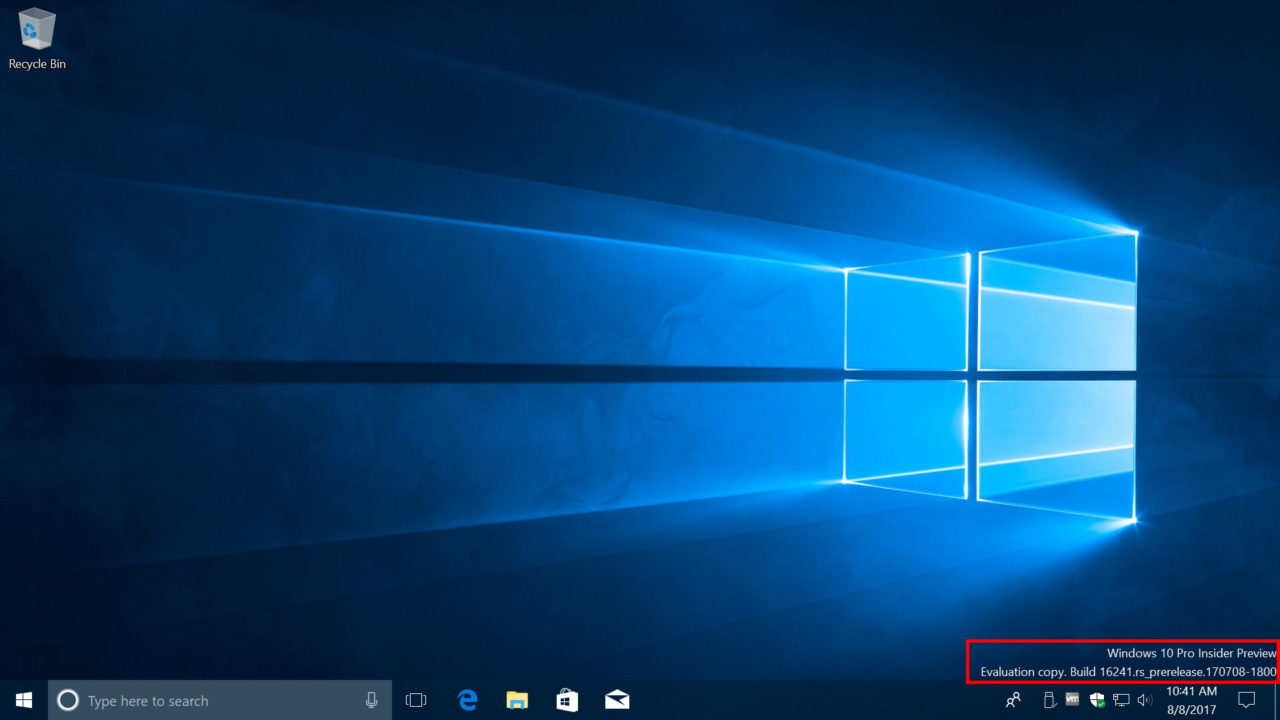 How to Remove the Windows 10 Watermark From Insider Program